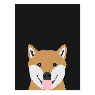 Indiana - Shiba Inu Dog Illustration for Dog Lover Postcard