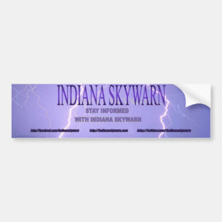 Indiana Skywarn Logo Bumper Sticker