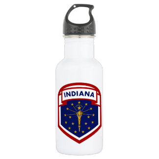 Indiana State Flag 532 Ml Water Bottle