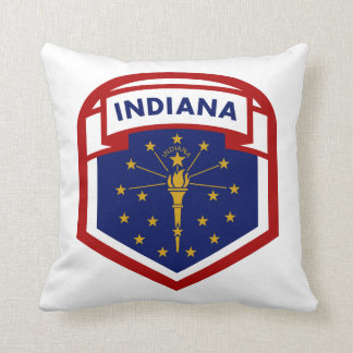 Indiana State Flag Coat Of Arms Style Cushion