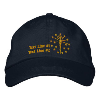 Indiana State Flag Design Personalize it Embroidered Hat