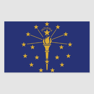 Indiana State flag Rectangular Sticker