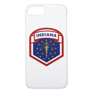 Indiana State Flag Shield Style iPhone 8/7 Case