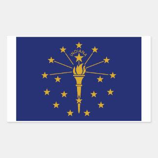 Indiana State Flag Sticker - 4 per sheet