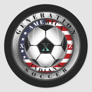 Indiana State Generation X American Soccer Classic Round Sticker