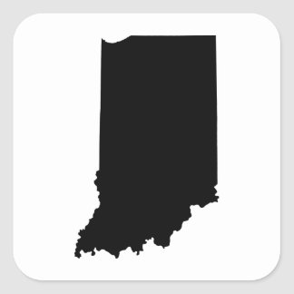 Indiana State Outline Square Sticker