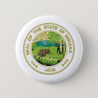 Indiana State Seal 6 Cm Round Badge