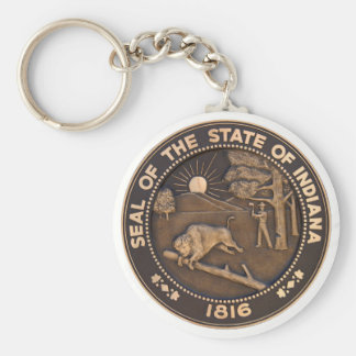 Indiana State Seal Key Ring