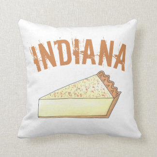 Indiana Sugar Cream Farm Pie Slice Foodie Dessert Cushion