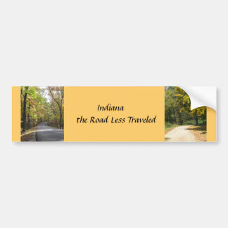 Indiana the Road Less Traveled Bumper Sticker