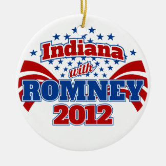 Indiana with Romney 2012 Ceramic Ornament