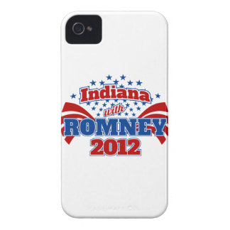 Indiana with Romney 2012 iPhone 4 Case-Mate Cases