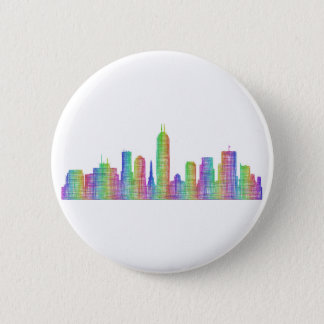 Indianapolis city skyline 6 cm round badge