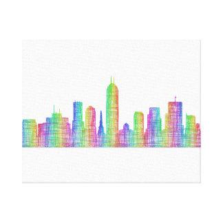 Indianapolis city skyline canvas print