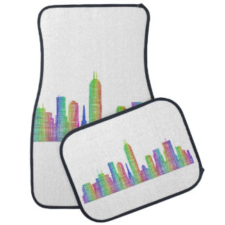 Indianapolis city skyline car mat