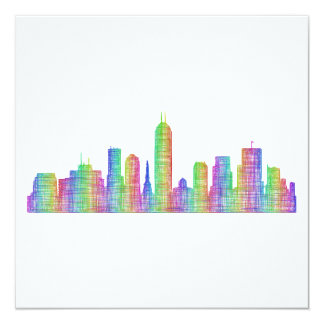 Indianapolis city skyline card