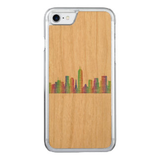 Indianapolis city skyline carved iPhone 8/7 case
