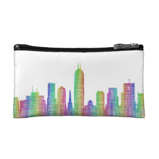 Indianapolis city skyline makeup bag