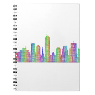 Indianapolis city skyline notebook