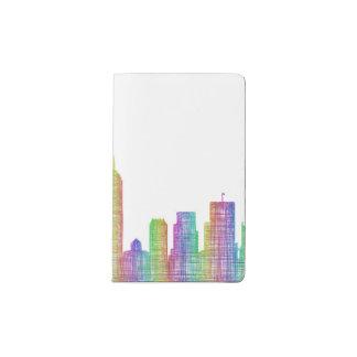 Indianapolis city skyline pocket moleskine notebook