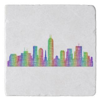Indianapolis city skyline trivet