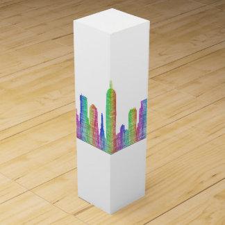 Indianapolis city skyline wine box