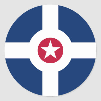 Indianapolis flag classic round sticker