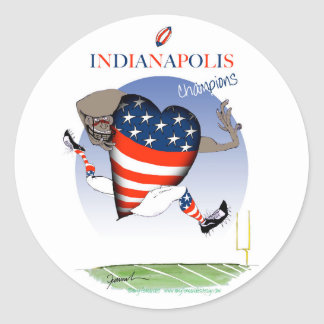 indianapolis football champs, tony fernandes classic round sticker