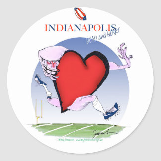 indianapolis head heart, tony fernandes classic round sticker