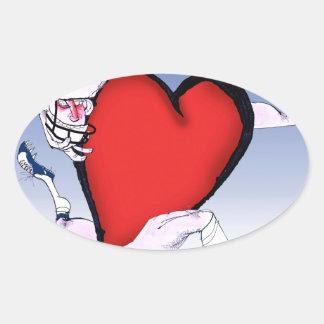 indianapolis head heart, tony fernandes oval sticker