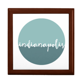 Indianapolis, Indiana | Blue Ombre Circle Large Square Gift Box