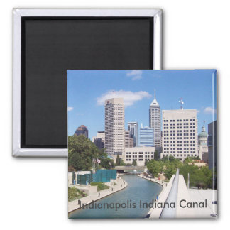 Indianapolis Indiana Canal Square Magnet