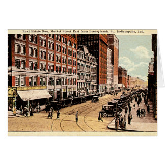 Indianapolis, Indiana Downtown 1915 Card