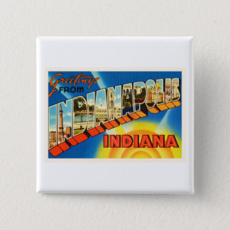 Indianapolis Indiana IN Vintage Travel Souvenir 15 Cm Square Badge