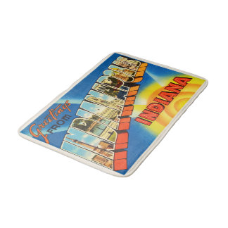 Indianapolis Indiana IN Vintage Travel Souvenir Bath Mats