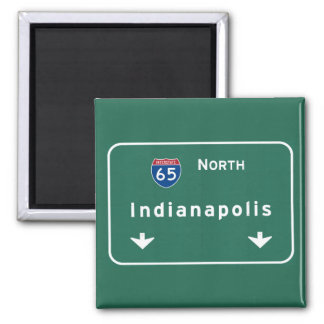 Indianapolis Indiana Interstate Highway Freeway : Square Magnet