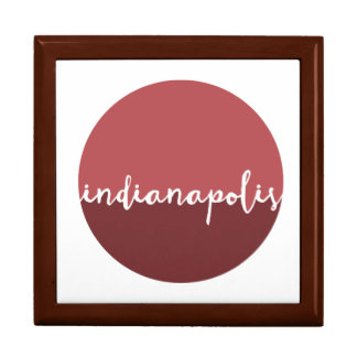 Indianapolis, Indiana   Rust Ombre Circle Large Square Gift Box