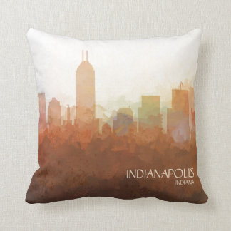 Indianapolis, Indiana Skyline-In the Clouds Cushion