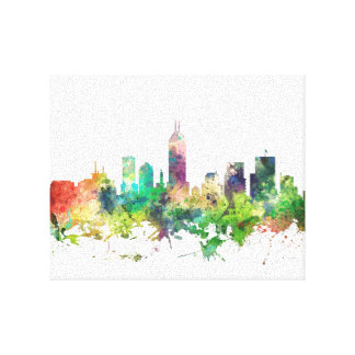INDIANAPOLIS, INDIANA SKYLINE SP - CANVAS PRINT