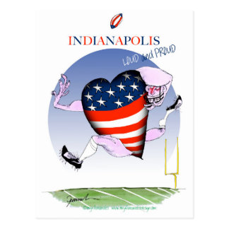 indianapolis loud and proud, tony fernandes postcard
