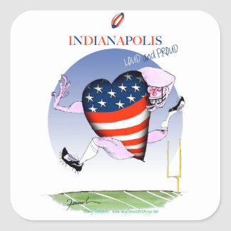 indianapolis loud and proud, tony fernandes square sticker