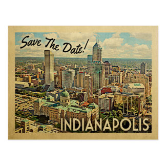 Indianapolis Save The Date Indiana Postcard