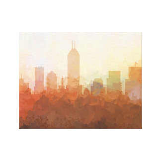 INDIANAPOLIS SKYLINE - In the Clouds Canvas