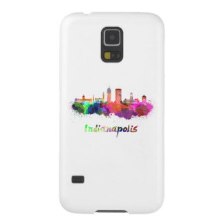 Indianapolis skyline in watercolor case for galaxy s5