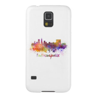 Indianapolis skyline in watercolor galaxy s5 cover