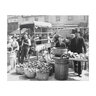 Indianapolis Vegetable Market 1908 Gallery Wrap Canvas