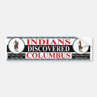 INDIANS COLUMBUS BUMPER STICKER
