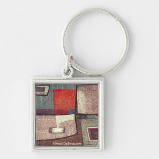 Indians in space #2 Silver-Colored square key ring