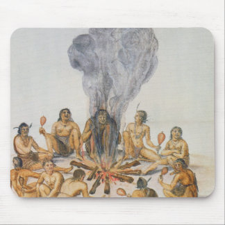 Indians round a Fire Mouse Pad