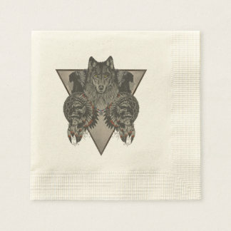 Indians Skull Fantasy Style Disposable Serviettes
